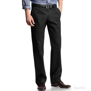 GAP Men's Tailored Khakis Relaxed Fit Black